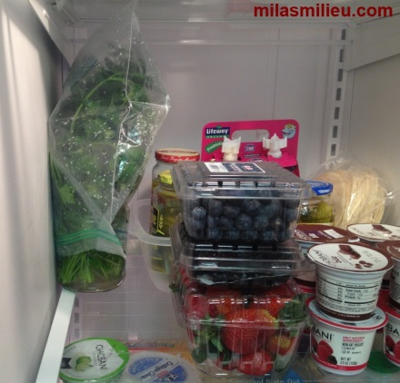 Storing herbs in the refrigerator