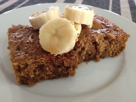 Healthy oatmeal snack cake