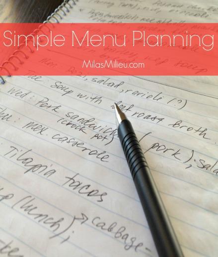 simple menu planning